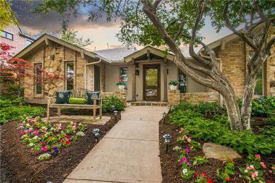 Dallas County Single Family Home Active Option Contract: 2213 Sutton Place