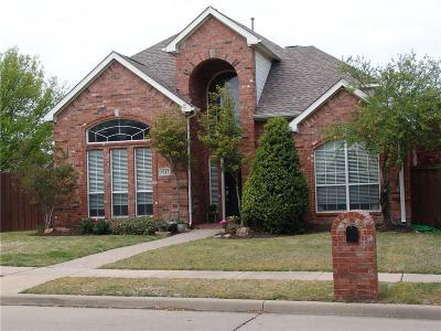 Plano Single Family Home Active Option Contract: 9213 Blue Water Drive
