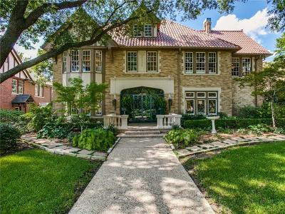 Dallas County Single Family Home For Sale: 5901 Swiss Avenue