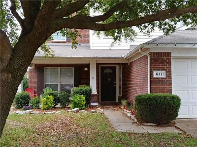 Arlington, Mansfield Single Family Home For Sale: 641 Tabasco Trail