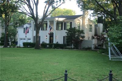 Preston Hollow Single Family Home For Sale: 4339 Crowley Drive