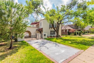 Single Family Home For Sale: 1846 Mayflower Drive