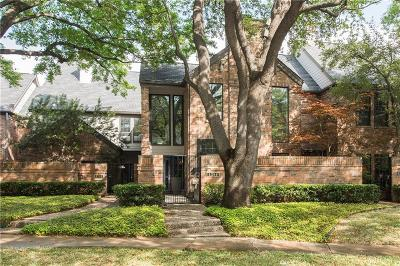 Highland Park, University Park Townhouse For Sale: 4354 Westside Drive