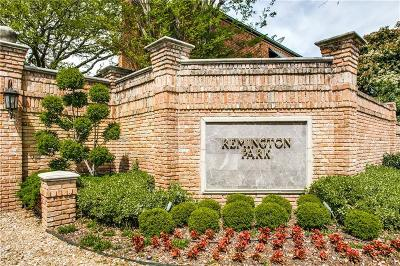 Dallas Townhouse For Sale: 17350 Remington Park Place