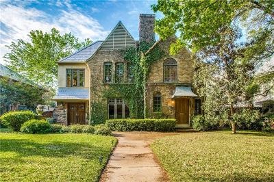 Highland Park Single Family Home For Sale: 4411 Westway Avenue
