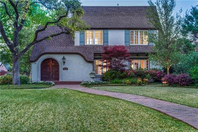 Highland Park Single Family Home For Sale: 3220 Beverly Drive