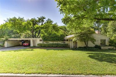 Overton Park Add, Overton Woods Add, Tanglewood Single Family Home For Sale: 3240 Preston Hollow Road