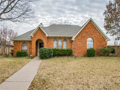 Plano Single Family Home Active Option Contract: 1444 Cumberland Trail