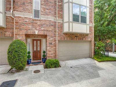 Dallas Townhouse For Sale: 3610 Gillespie Street #1
