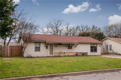 Euless Single Family Home Active Option Contract: 603 W Mills Drive