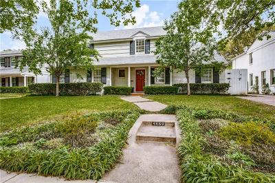 Highland Park Single Family Home For Sale: 4660 Beverly Drive