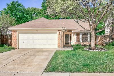Grapevine Single Family Home Active Option Contract: 1845 Sonnet Drive