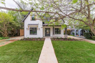 Dallas Single Family Home For Sale: 5712 Kenwood Avenue