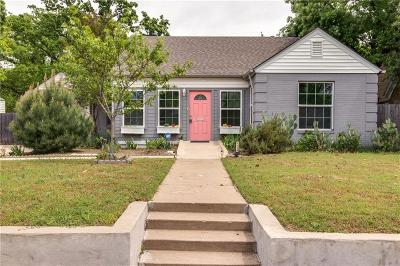 Fort Worth Single Family Home Active Option Contract: 1110 N Riverside Drive