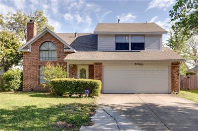 Grand Prairie Single Family Home Active Option Contract: 351 Hopewell Street