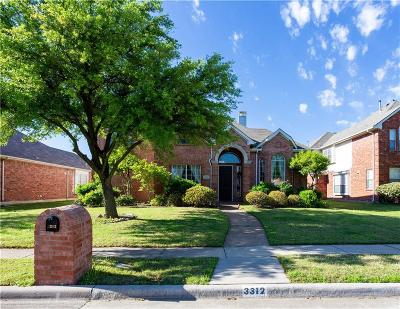 Plano Single Family Home Active Option Contract: 3312 Grand Mesa Drive