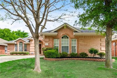 Rockwall Single Family Home Active Option Contract: 814 Bear Branch Court