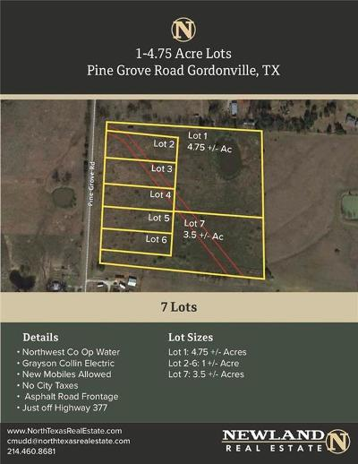 Dallas County, Collin County, Rockwall County, Ellis County, Tarrant County, Denton County, Grayson County Residential Lots & Land For Sale: Tbd4 Pine Grove Road