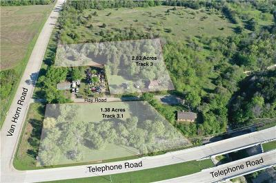 Dallas Residential Lots & Land For Sale: 3595 Ray Road