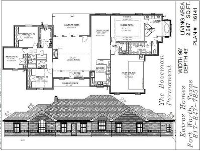 Weatherford Single Family Home Active Contingent: Lot 15 Old Authen Road