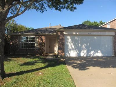 Denton Single Family Home For Sale: 1408 Mosscreek Drive