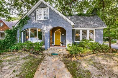 Dallas Single Family Home For Sale: 4339 N Hall Street