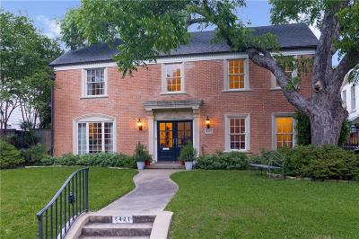 Highland Park, University Park Single Family Home For Sale: 4421 Belclaire Avenue