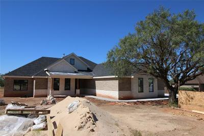 Abilene Single Family Home For Sale: 118 Chardonnay Way