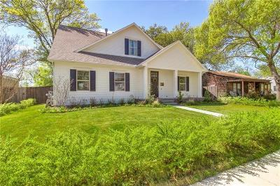 Fort Worth Single Family Home Active Option Contract: 833 Edgefield Road