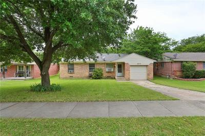 Farmers Branch Single Family Home Active Option Contract: 2631 Springvale Drive