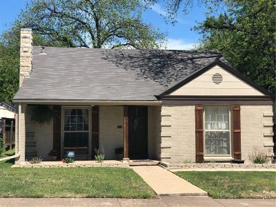 Fort Worth Single Family Home For Sale: 3404 W 5th Street
