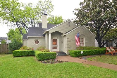 Highland Park, University Park Single Family Home Active Option Contract: 4105 Hanover Street