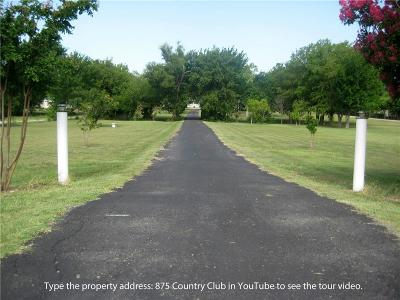 Collin County Single Family Home Active Option Contract: 875 Country Club Road