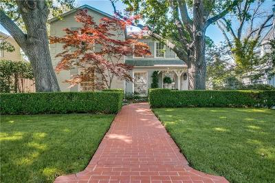 Highland Park, University Park Single Family Home Active Option Contract: 4437 Larchmont Street