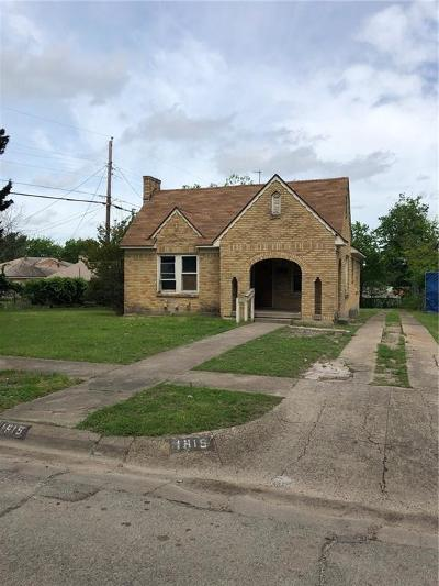 Single Family Home For Sale: 1815 Norfolk Avenue
