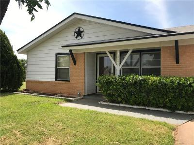 Abilene Single Family Home Active Option Contract: 4733 Clover Lane