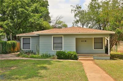 Abilene Single Family Home Active Option Contract: 218 College Drive
