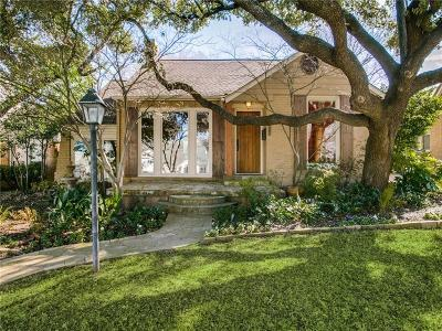 Dallas Single Family Home For Sale: 6918 Hammond Avenue
