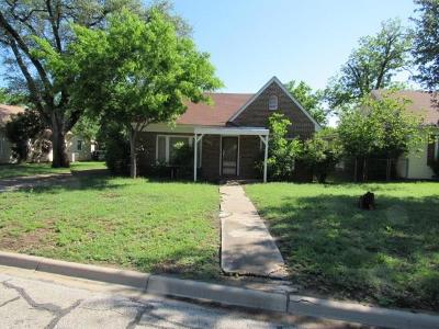 Brownwood Single Family Home Active Option Contract: 2608 Vincent Street