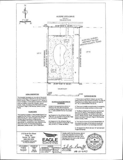 Denton Residential Lots & Land For Sale: 508 Alegre Vista Drive