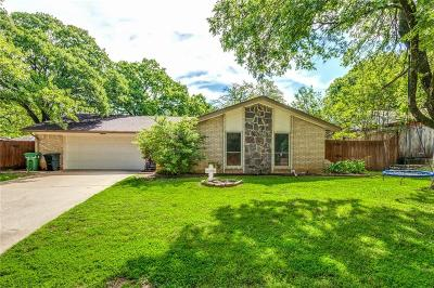 Grapevine Single Family Home Active Option Contract: 2411 Tanglewood Drive