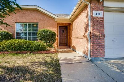 Celina Single Family Home For Sale: 418 Mustang Trail