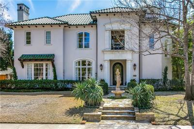 Dallas County Single Family Home Active Option Contract: 4217 Larchmont Street