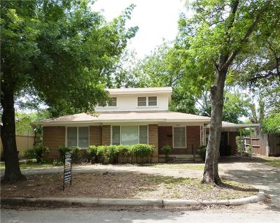 Fort Worth Single Family Home Active Contingent: 4608 Cole Street