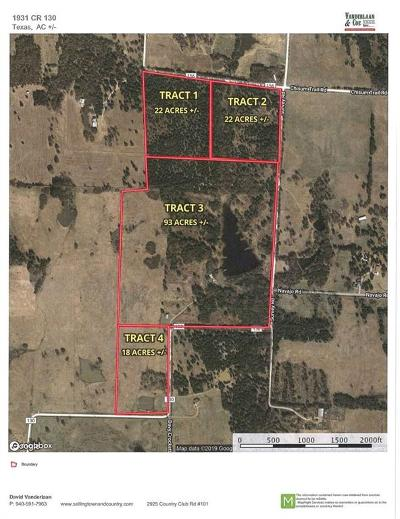 Cooke County Residential Lots & Land For Sale: Tr 4 County Road 130