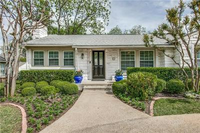 Dallas County Single Family Home For Sale: 2922 Lovers Lane