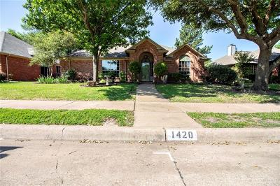 Allen Single Family Home Active Option Contract: 1420 Country Lane