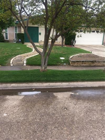 Irving Single Family Home Active Option Contract: 2001 Black Jack Drive