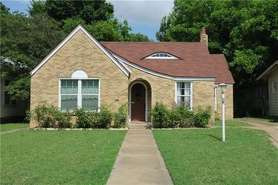 Fort Worth TX Single Family Home For Sale: $309,500