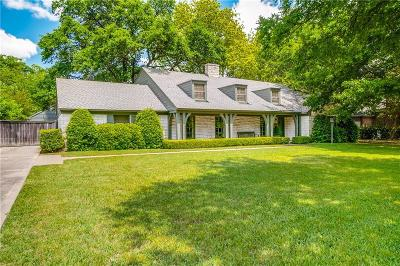 Dallas County Single Family Home Active Option Contract: 4231 Valley Ridge Road